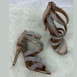 Steve Madden Rose Gold Heels Size 7.5